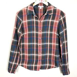 James Perse | Plaid Button Up Shirt